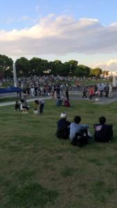 IMG_3636神奈川新聞花火大会は臨海パーク